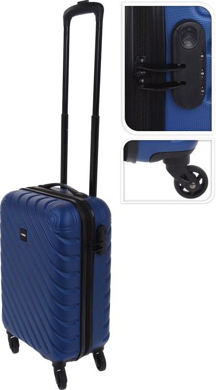 Kufr příruční na kolečkách 50 cm PROWORLD modrý EXCELLENT KO-FB5000210