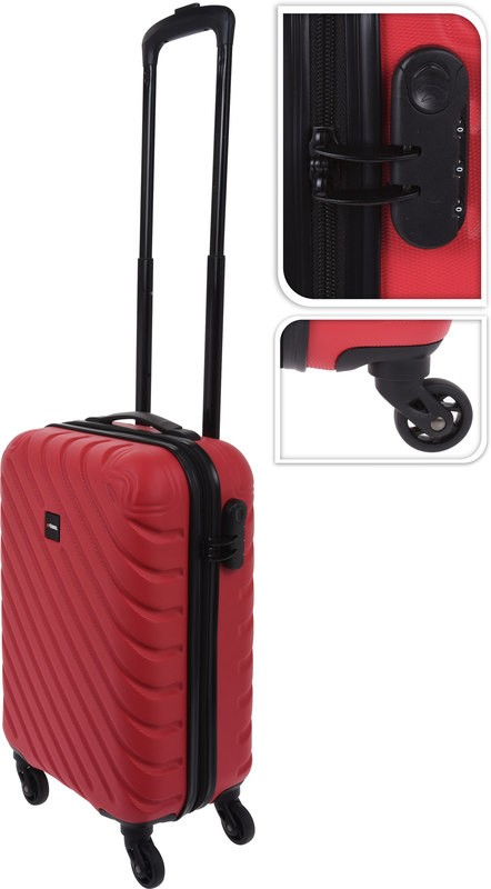 Kufr příruční na kolečkách 50 cm PROWORLD červený EXCELLENT KO-FB5000220