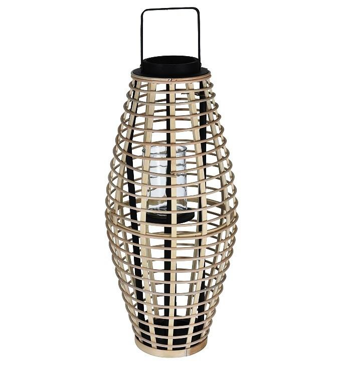 Lucerna bambusová 30 x 64 cm