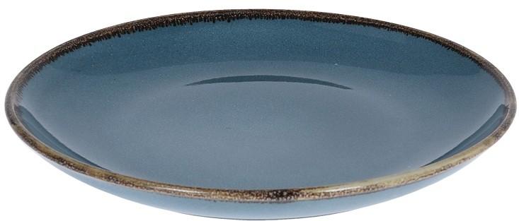 Talíř dezertní kamenina 20 cm modrý