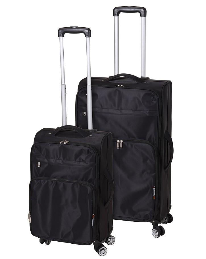 Kufr cestovní a příruční na kolečkách sada 2 ks PROWORLD černá