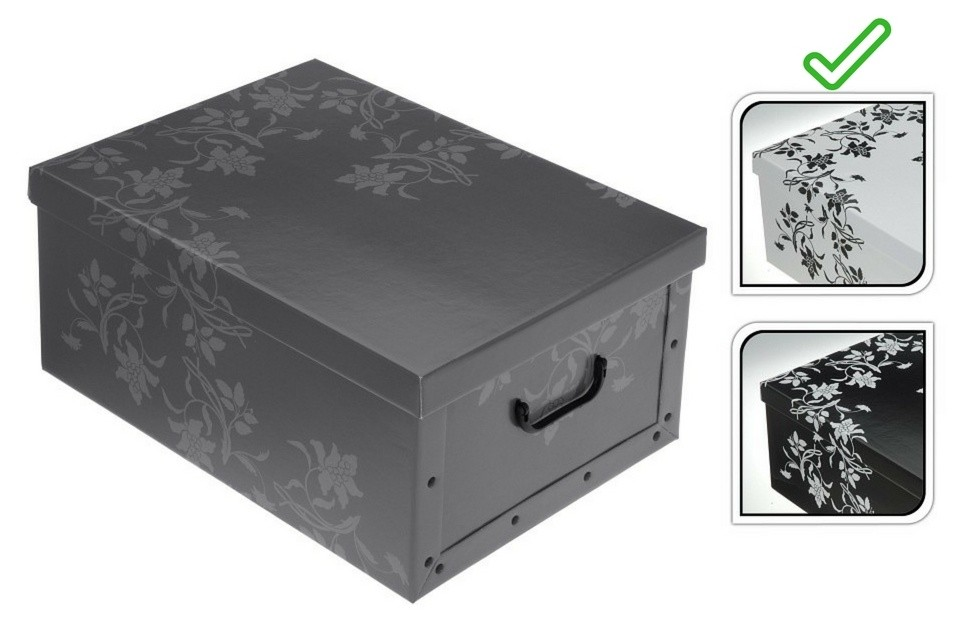 Úložný box dekorativní 51x37x24cm bílá