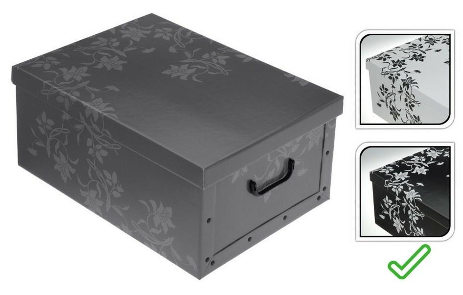 Úložný box dekorativní 51x37x24cm černá