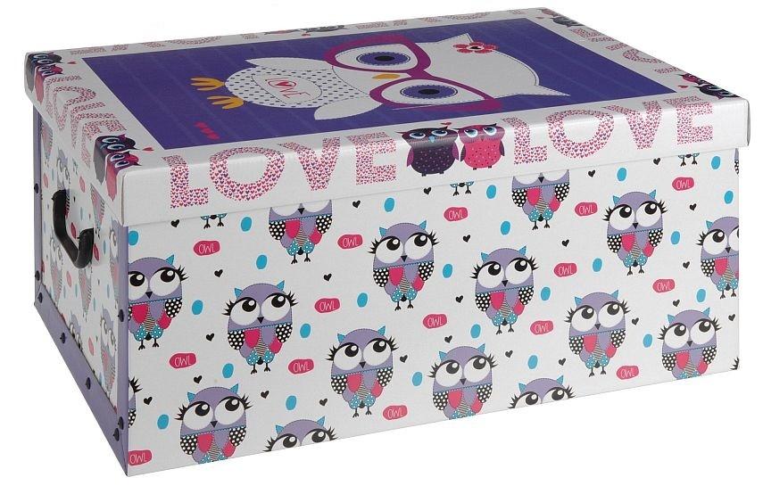 Úložný box dekorativní sovy fialový