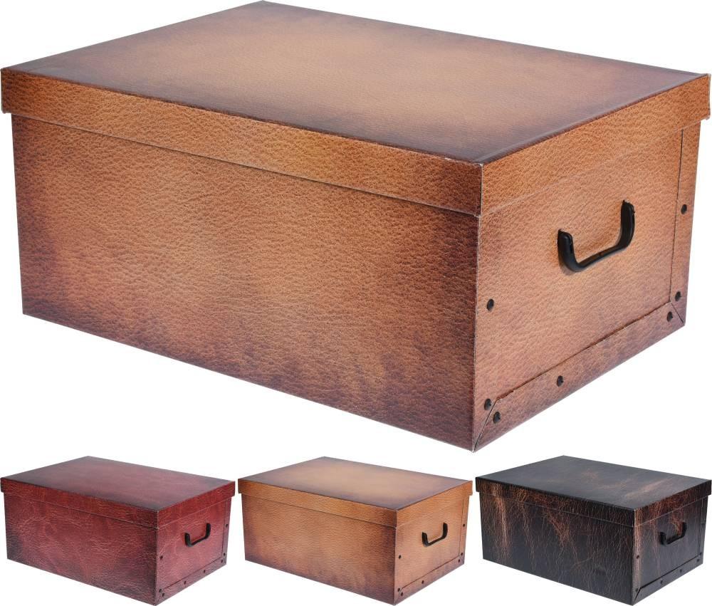 Box úložný dekorativní 51x37x24cm rudá