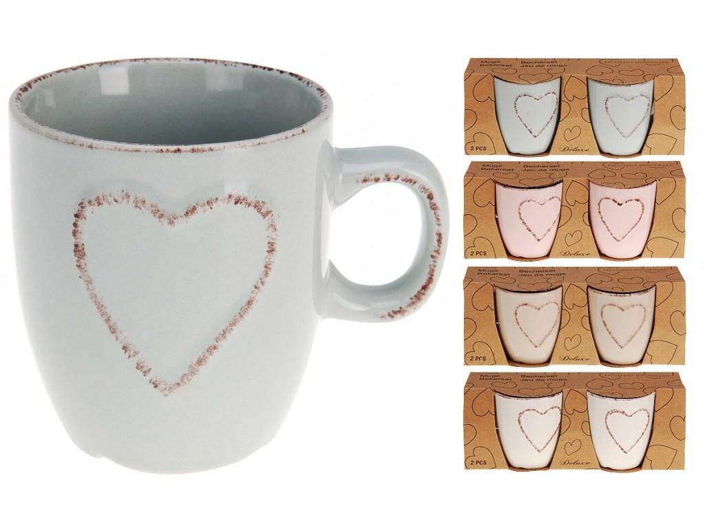 Hrnek na espresso srdce 150 ml sada 2 ks EXCELLENT KO-Q75910100
