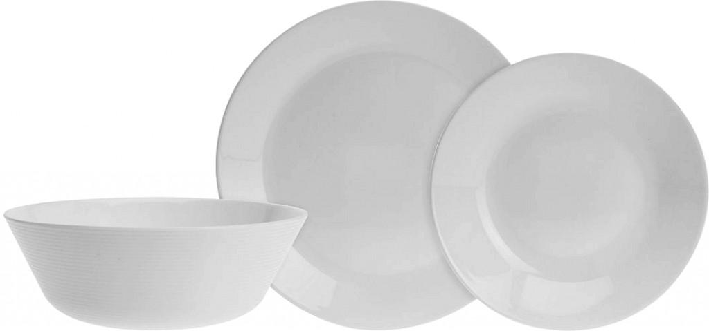 Jídelní sada talířů 18 ks opálové sklo EXCELLENT KO-VER001099