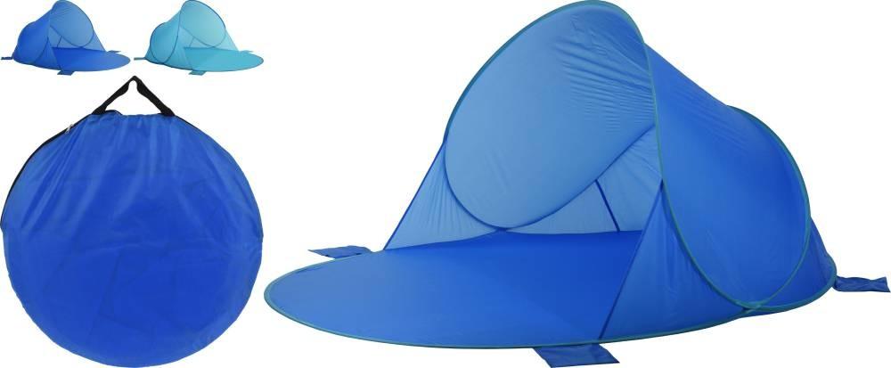 Plážový přístřešek samorozkládací 165x200x100cm modrá PROGARDEN KO-X61900440