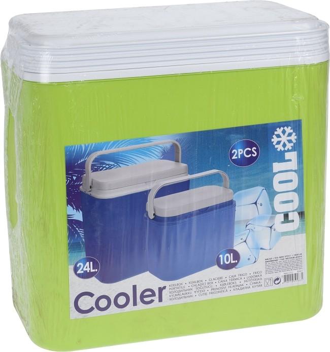 EXCELLENT Chladící box sada 2 ks 24 + 10 l