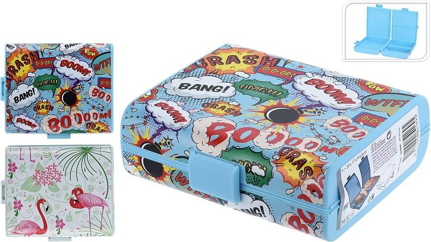 Box na svačinu 3 komory FLAMINGO PROGARDEN KO-Y54005480