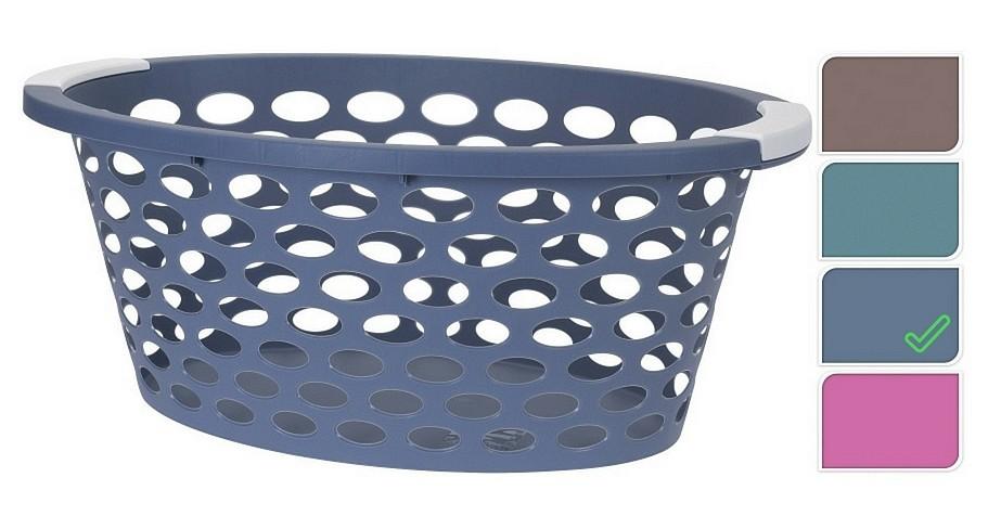 Koš na prádlo plast 60x40x22cm modrá