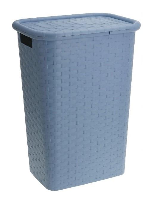 Koš na prádlo s víkem plast 60 l modrá