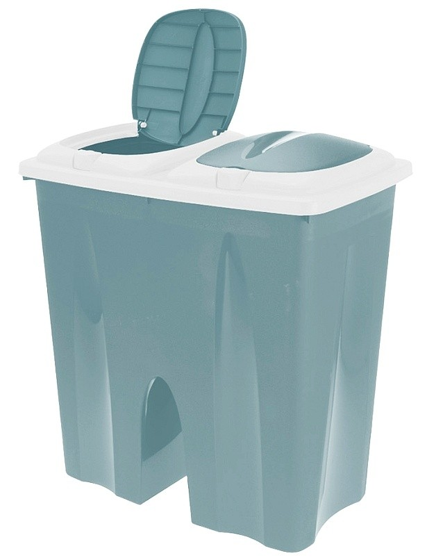Odpadkový koš na tříděný odpad 2 x 25 l zelená EXCELLENT KO-Y54230710ze