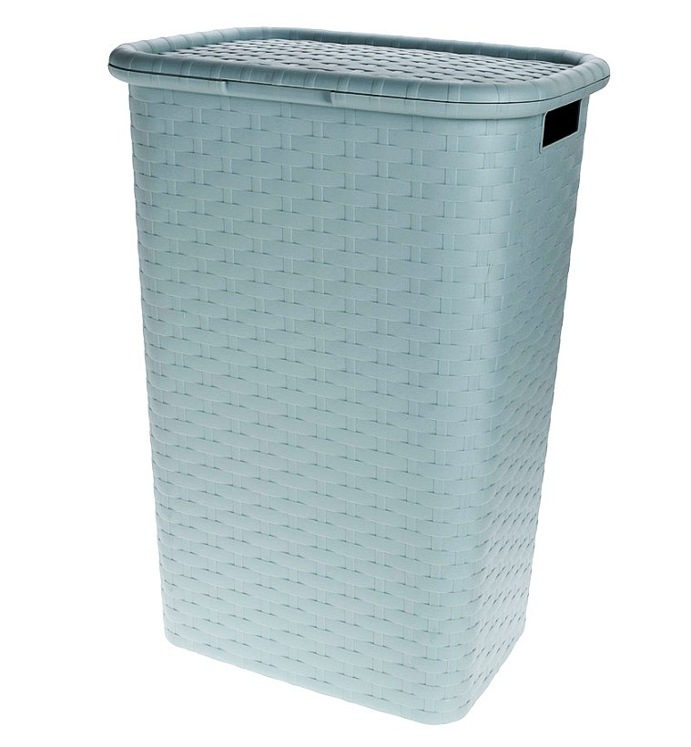 Koš na prádlo plast 60 l zelená