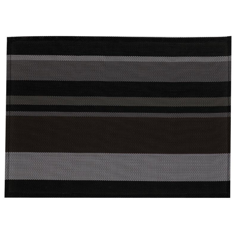 Prostírání NETA, PVC, černé pruhy 45x30cm KELA KL-15621