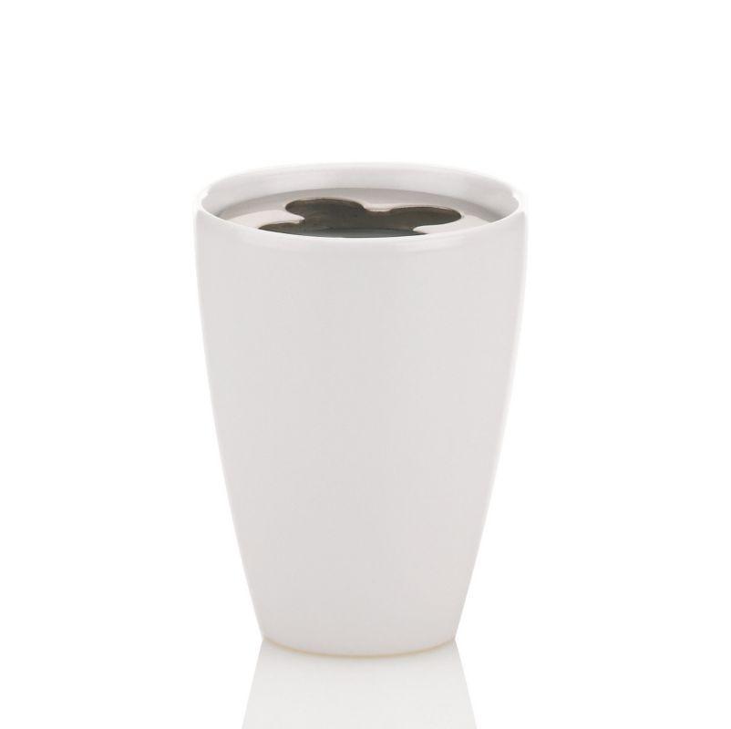 Držák na zubní kartáčky LIMA keramika bílá