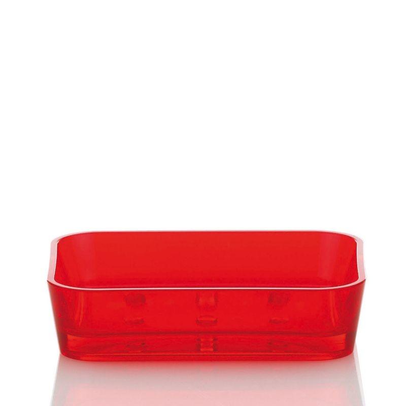 Miska na mýdlo KRISTALL červená KELA KL-21335