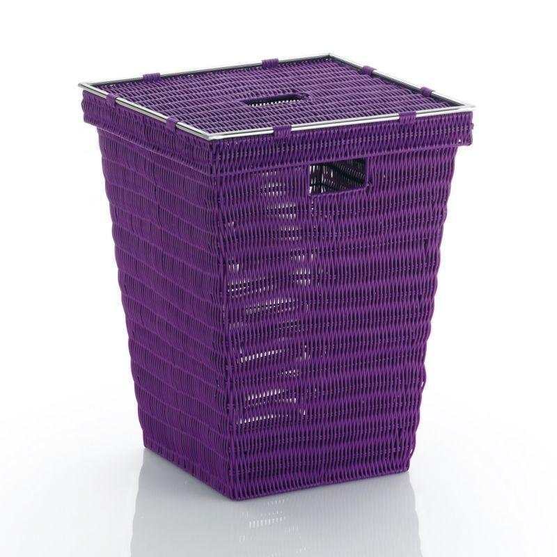 Koš na prádlo NOBLESSE PP plast, fialový 40x40x53 cm
