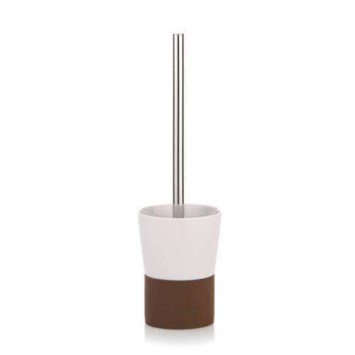 WC štětka PIANO keramika bílá/hnědá KELA KL-21753