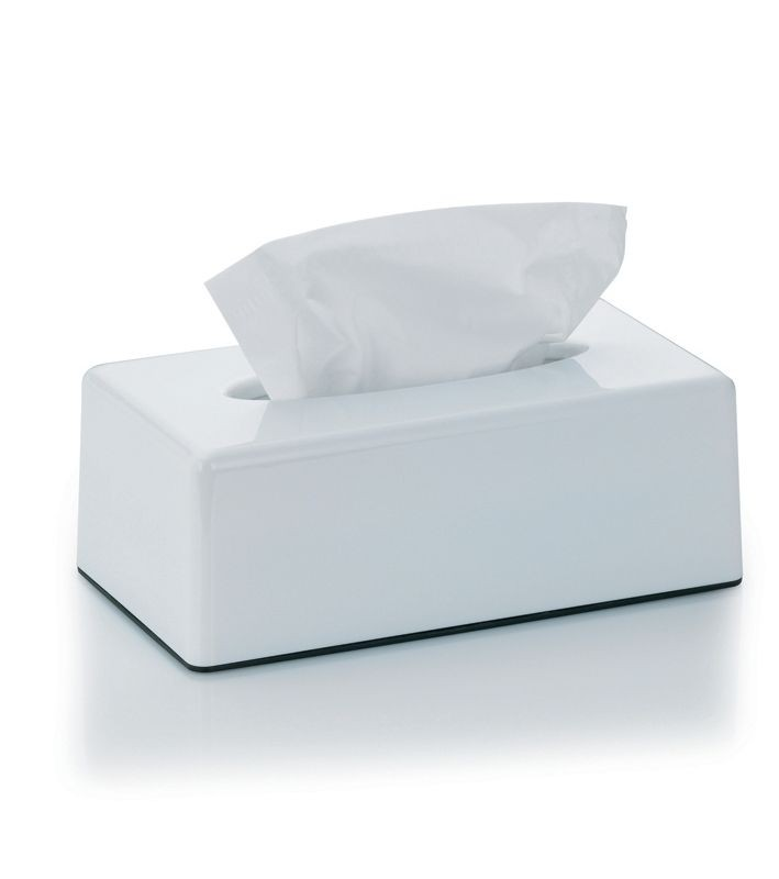 Kosmetický box na kapesníky PANNO plast, bílý
