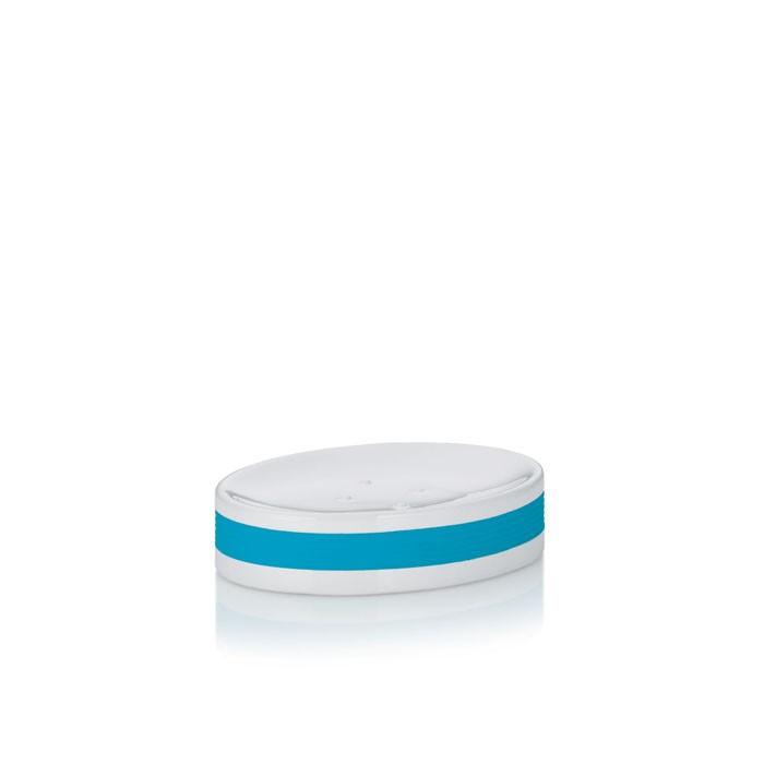 Miska na mýdlo keramika guma LALETTA tyrkys KELA KL-22565