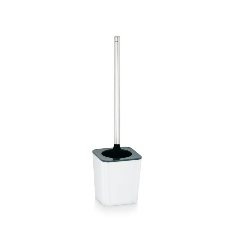 WC štětka NURIA plast/nerez bílá KELA KL-22593