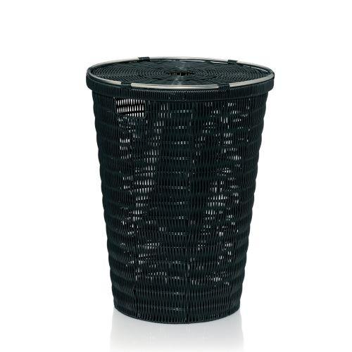 Koš na prádlo NOBLESSE PP plast, černý 41x56 cm