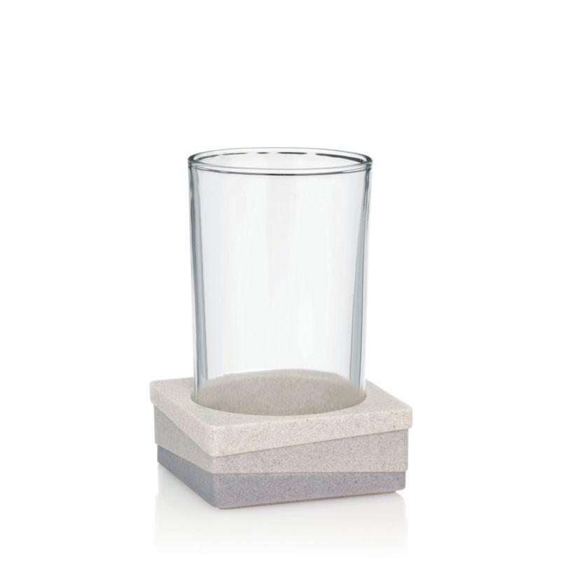 Pohár VALURA umělý kámen / sklo KELA KL-22801
