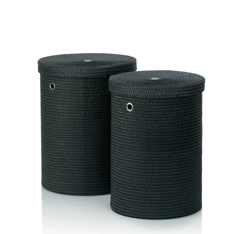 Sada prádelních košů RIMOSSA PP plastic, černá KELA KL-22981