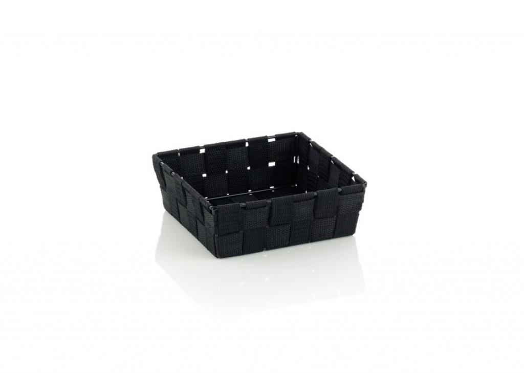 Koš ALVARO PP, černá 19x19x6cm KELA KL-23031
