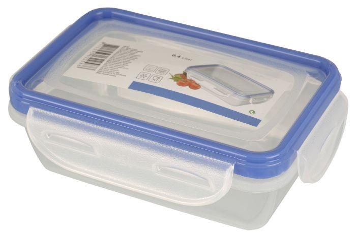 Dóza plastová s klip víčkem 0,4 l