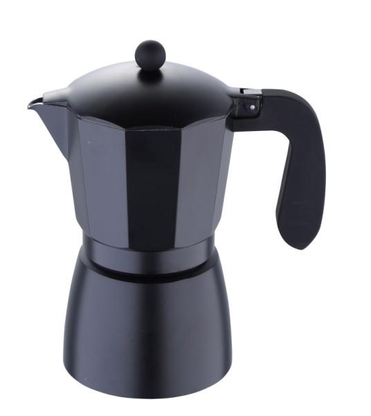 Konvice na espresso, 9 šálků, černá