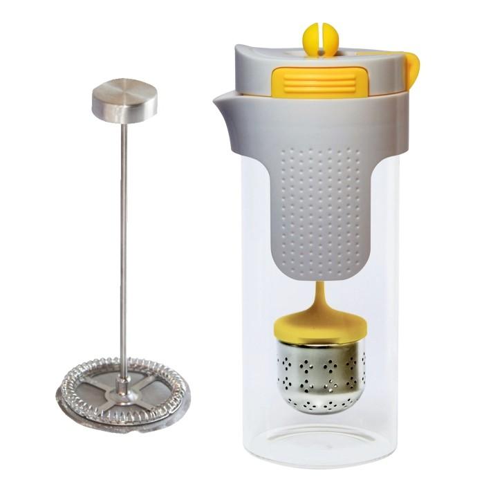 Konvička na čaj a kávu nerez 750 ml žlutá STONELINE WX-14348