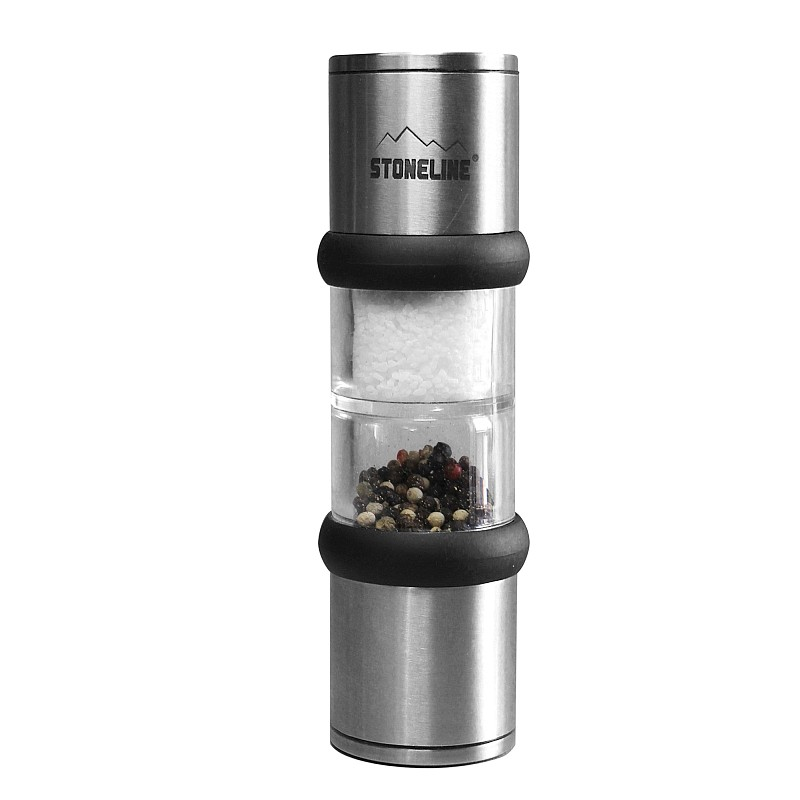 Mlýnek na sůl a pepř nerez mechanický se stojánkem STONELINE WX-15448