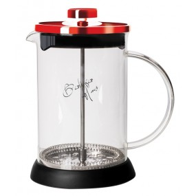 Konvička na čaj a kávu French Press 350 ml  Burgundy Metallic Line